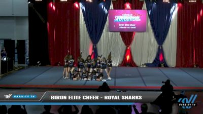 Biron Elite Cheer - Royal Sharks [2021 L3 Senior - D2 - Small Day 2] 2021 The American Spectacular DI & DII
