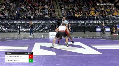 174 lbs Consolation - Donnell Washington, Indiana vs Jared Krattiger, Wisconsin