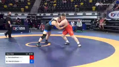 125 kg Final - Joshua Heindselman, Oklahoma Regional Training Center vs Wyatt Hendrickson, Air Force Regional Training Center