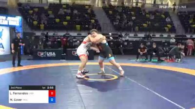 125 kg 3rd Place - Lewis Fernandes, Spartan Combat RTC vs Matthew Cover, Princeton Wrestling Club