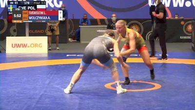 65 kg Bronze - Linnea Svensson, SWE vs Aleksandr Wolczynska, POL