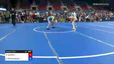 120 lbs Quarterfinal - Sean Seefeldt, Ohio vs Jett Strickenberger, Colorado