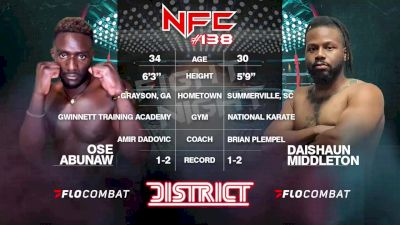 Replay: NFC MMA 138 | Sep 18 @ 6 PM
