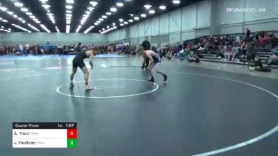 138 lbs Quarterfinal - Andon Trout, Moen Wrestling Academy vs Jarad Faulkner, Roundtree Wrestling Academy