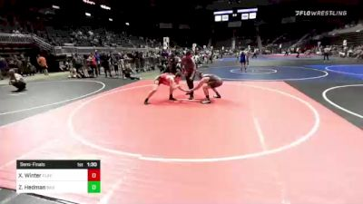 172 lbs Semifinal - Xan Winter, Flathead Valley WC vs Zachary Hedman, Bad Dogs