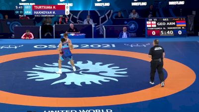 55 kg Final 3-5 - Nugzari Tsurtsumia, Georgia vs Norayr Hakhoyan, Armenia