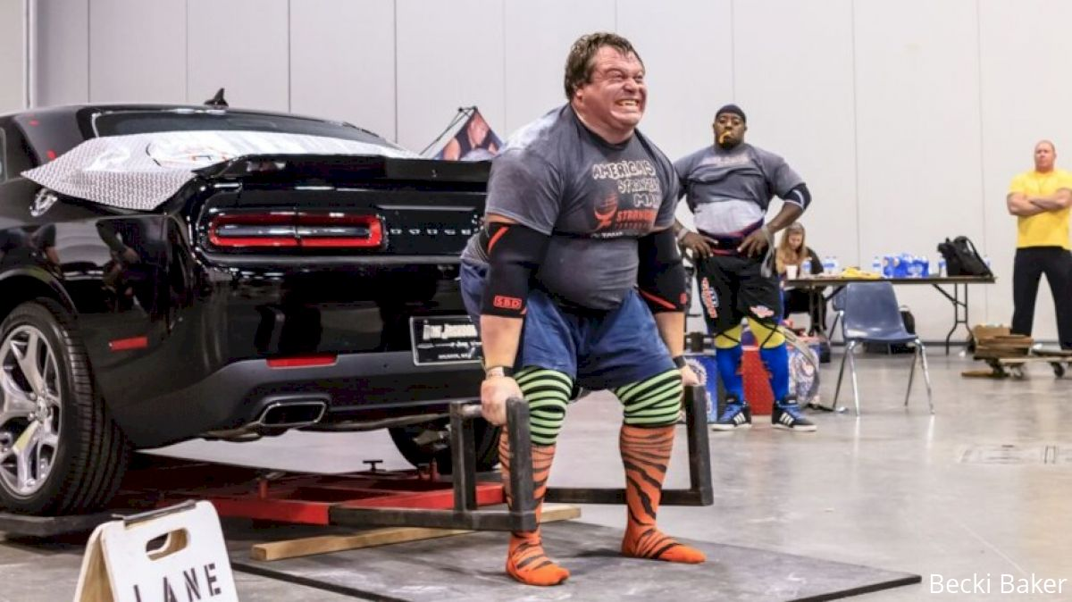 Dimitar deadlifts a car at 2015 ASM