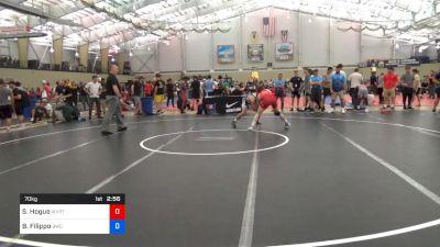 70 kg Round Of 64 - Seth Hogue, West Virgina Regional Training Tenter vs Brik Filippo, Bronchos Wrestling Club