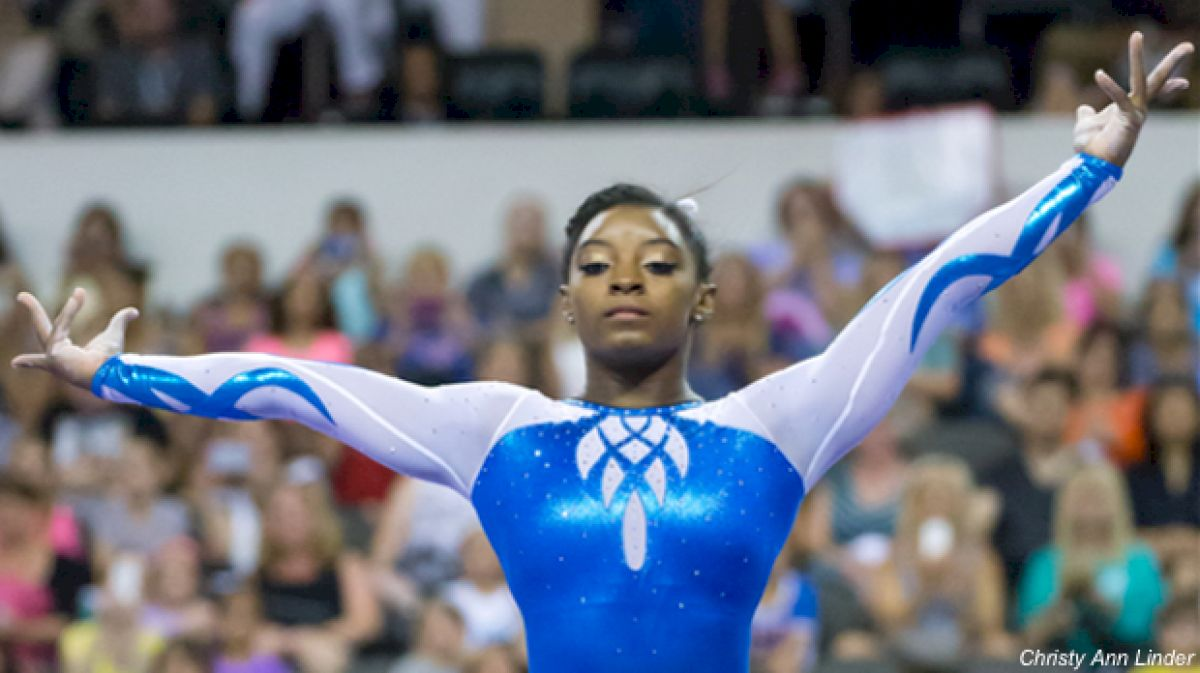 Simone Biles secret classic beam serious face flas