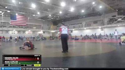 122 lbs Round 3 (4 Team) - Rose Kaplan, Youtube Wrestlers vs Kendra Bliss, Missouri Red