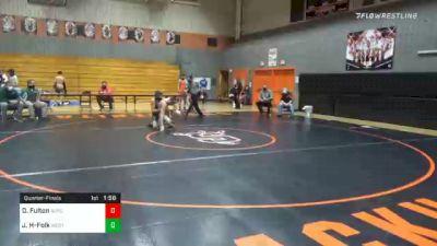138 lbs Quarterfinal - Dylan Fulton, Susquenita vs Justice Hockenberry-Folk, West Perry