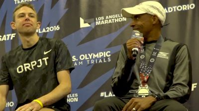Meb Keflezighi Awkwardly Takes Galen Rupp To Task About Crowding His Space