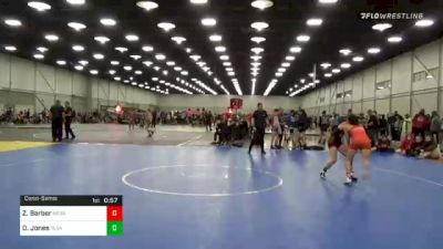 106 lbs Consolation - Zoey Barber, Nebraska Wrestling Academy vs Destiny Jones, Team Tulsa Wrestling Club