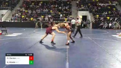 197 lbs Quarterfinal - Gabriel Zierden, Concordia Moorhead vs Kobe Woods, Wartburg College