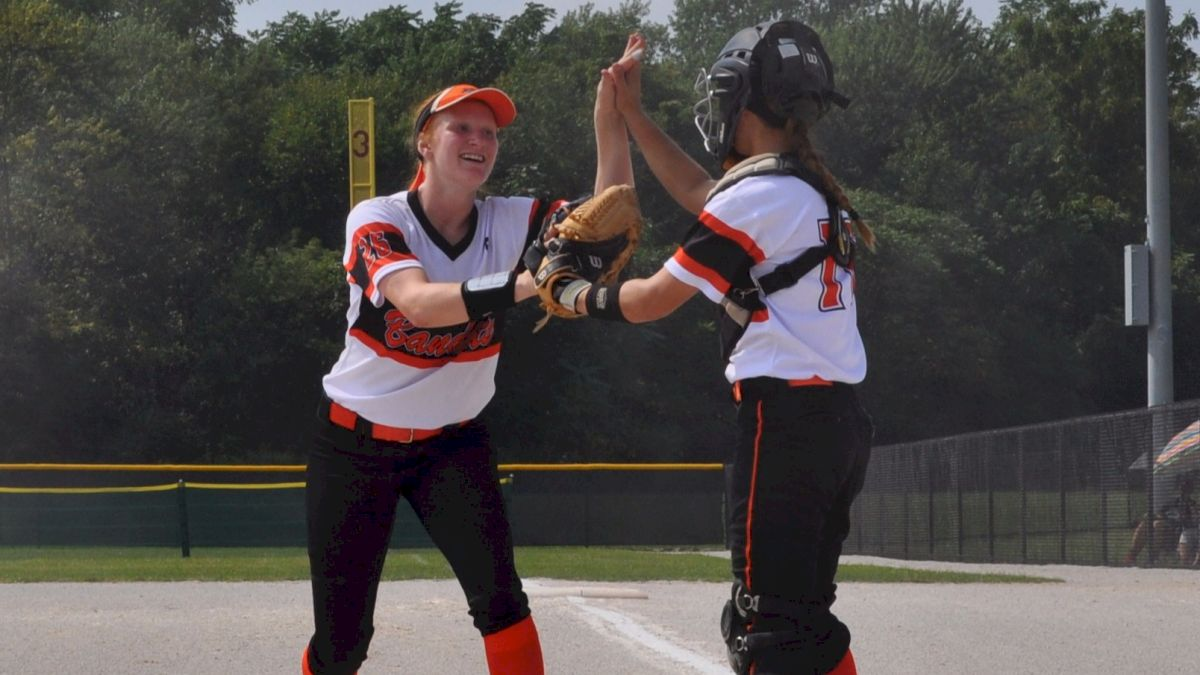 Sydney Supple high five with Shelby Grimm.jpg