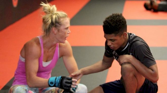 Roman Bravo Young Training With UFC Champion Holly Holm