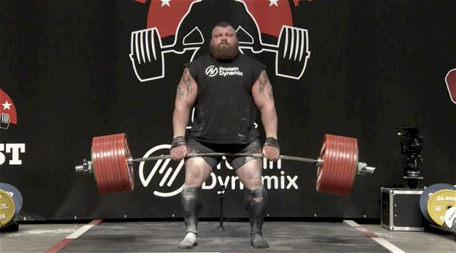 Eddie Hall Becomes First Strongman to Deadlift 500kg