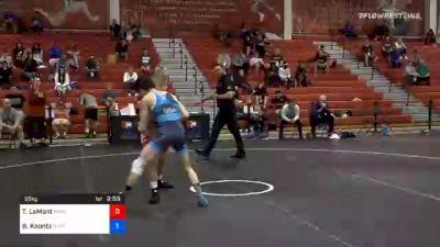 55 kg Prelims - Taylor LaMont, Sunkist Kids Wrestling Club vs Brady Koontz, Ohio Regional Training Center