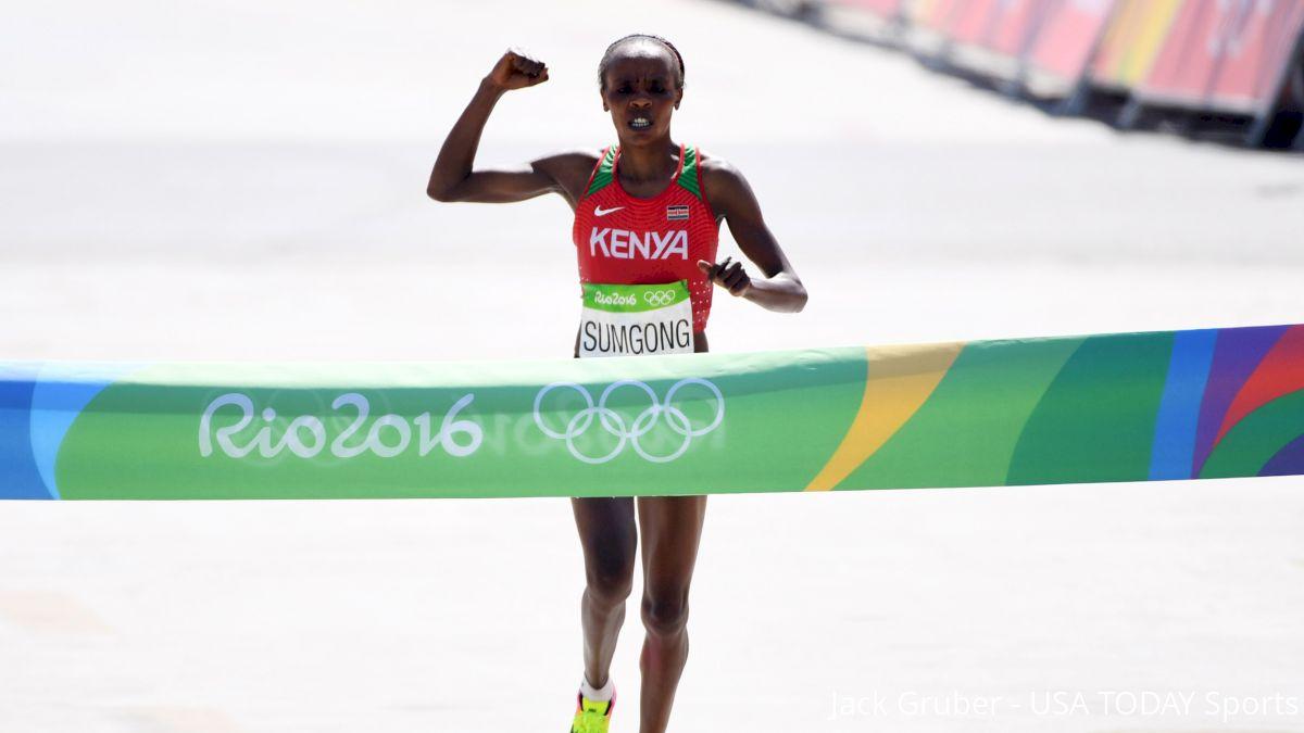 Jemima Sumgong wins Olympic gold