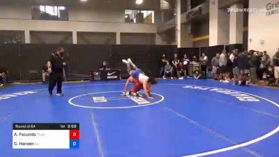 74 kg Prelims - Alex Facundo, Team Donahoe vs Grant Hansen, Illinois