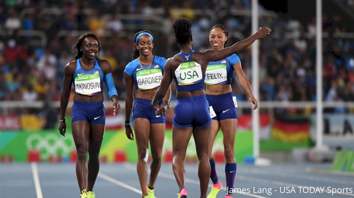 Update: U.S. Women's 4x100 Makes Final With Fastest Time On Re-Run