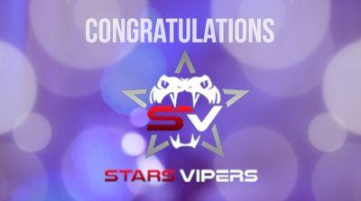 Congratulations, Stars Vipers!