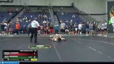 105 lbs Quarterfinal - Seth Mendoza, Illinois vs Deion Johnson, Illinois
