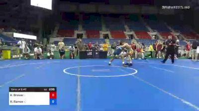 138 lbs Consi Of 8 #2 - Kole Brower, Illinois vs Ramon Ramos, Arizona