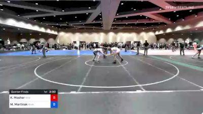 74 kg Quarterfinal - Kyle Mosher, New York City RTC vs Michael Martinak, Pennsylvania RTC