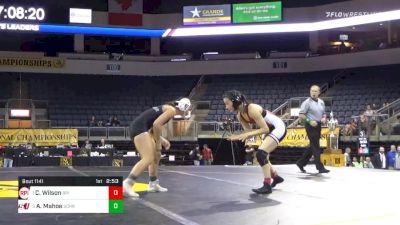 109 lbs Final - Chelsea Wilson, Rensselaer Polytechnic Institute - W vs Allicia Mahoe, Schreiner University - W