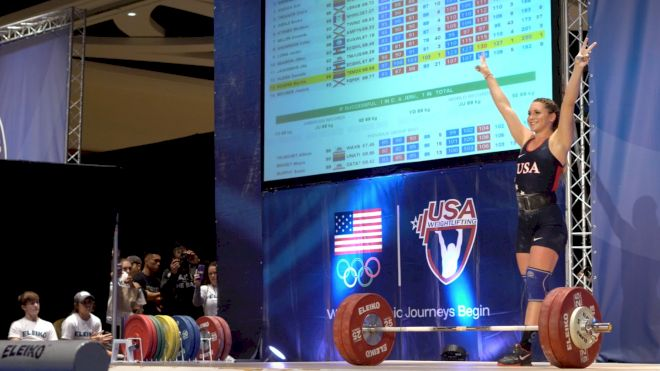 Mattie Rogers Sets New American Record Clean & Jerk At 2017 USAW Nationals