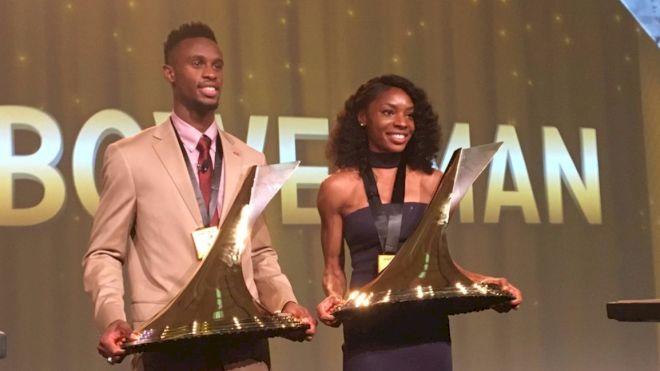 Courtney Okolo, Jarrion Lawson Earn Bowerman Awards