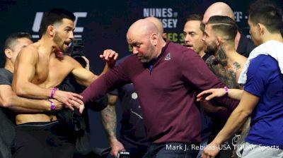 Dominick Cruz, Cody Garbrandt Share Intense Stare Down at UFC 207 Weigh-Ins