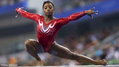 Simone Biles Over the Years On Balance Beam At U.S. Classic