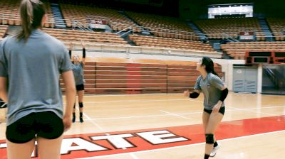 In the Gym with Ohio State: Serve, Dig, Cover