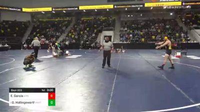 157 lbs Prelims - Ethan Garcia, Adrian College vs David Hollingsworth, Wartburg College