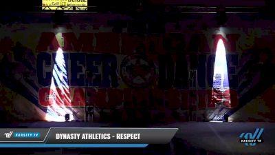 Dynasty Athletics - Respect [2021 L3 Junior - D2 - Medium Day 1] 2021 The American Celebration DI & DII