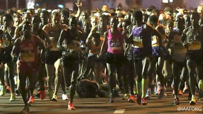 Watch Kenenisa Bekele Fall At The Start Of Dubai Marathon