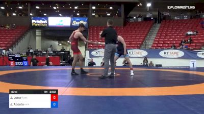 82 kg 3rd Place - Jonathan Loew, Finger Lakes RTC vs Jose Acosta, X-Factor Elite