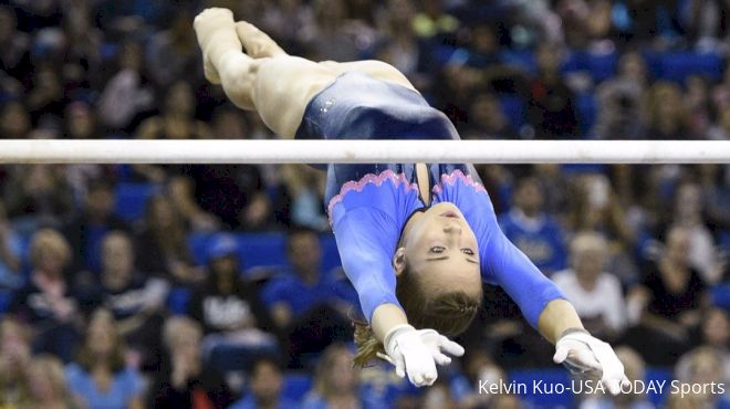 Most Difficulty In The 2017 NCAA Super Six: Uneven Bars Edition
