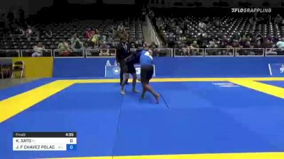 KENJI SATO vs JORGE F CHAVEZ POLACK 2021 World IBJJF Jiu-Jitsu No-Gi Championship