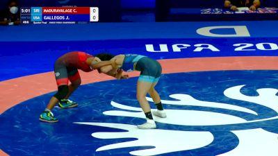 53 kg Quarterfinal - Chamodya Maduravalage Don, SRI vs Jaslynn Gallegos, USA