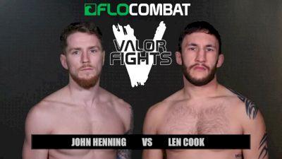 John Henning vs. Len Cook - Valor Fights 47