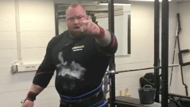 Hafthor The Mountain Bjornsson Pulls A Truck For Cardio