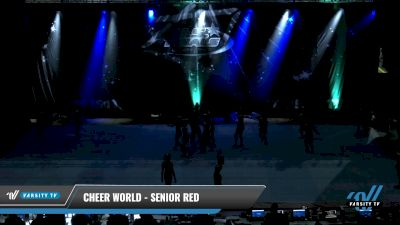 Cheer World - Senior Red [2021 L3.2 Senior - PREP Round] 2021 The U.S. Finals: Pensacola
