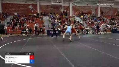 86 kg Prelims - Myles Wilson, Hawkeye Wrestling Club vs Christopher Foca, Spartan Combat RTC