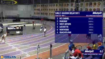 High School Girls' 4x400m Relay Division 1, Finals 1