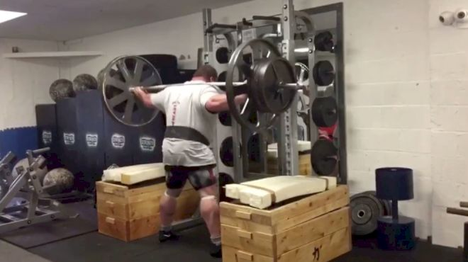 Eddie Hall Squats 320kg For 10 On The Axle Bar