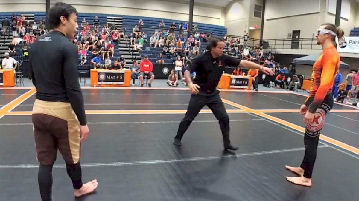 Black Belt Wears Blindfold To A Grappling Tournament And Wins!