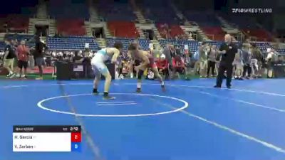 160 lbs Consi Of 8 #1 - Holden Garcia, Pennsylvania vs Vincent Zerban, Illinois